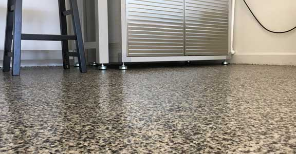 epoxy flake garage floor